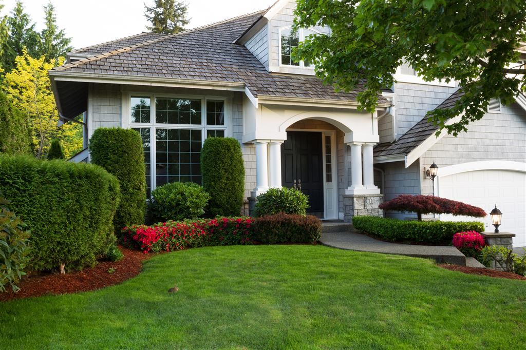 Beautiful residential landscaping in Eden Prairie
