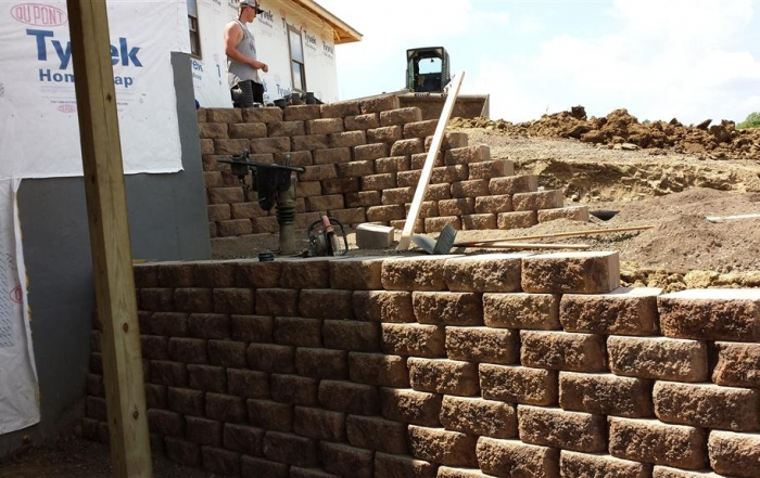 The Building of a Retaining Wall